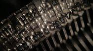 Typing. Metal types in the typewriter.  Stock Footage