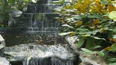 Waterfall in Bangkok Garden, Thailand Stock Footage