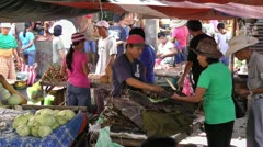 Selling tobacco in a local market in Sibalom on panay island in the Philippines Stock Footage