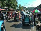 Stock Video Footage of Busy street during market day in Sibalom on Panay island in Philippines