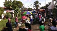 Stock Video Footage of Fruit and vegetable market at the city of Sibalom in the Philippines
