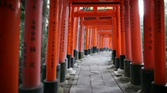 Torii Gates in Kyoto, Japan - stock footage