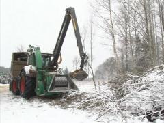 Machine granulate branch Stock Footage