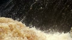 Rapids. Powerful stream of water Stock Footage