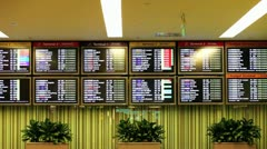 Airport arrival and departure Board, Singapore Stock Footage