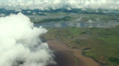 Bird's-eye view from the glider Stock Footage