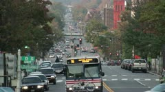 Timelpase traffic in Washington DC, USA - stock footage