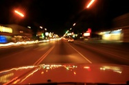 4K Driving Timelapse Night 01 Los Angeles Stock Footage
