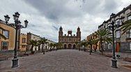 Cathedral Santa Ana in Las Palmas de Gran Canaria time lapse HD Stock Footage