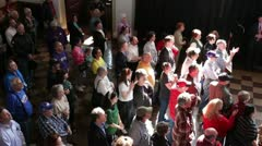 Crowd at Rick Santorum speech in Topeka, Kansas - stock footage