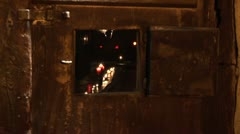 Vault With Candlelight Stock Footage
