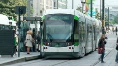 Tram - Nantes, France (3) - stock footage