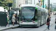 Stock Video Footage of Tram - Nantes, France (3)