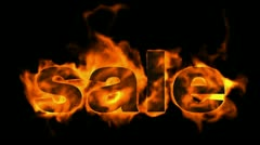 Burning sale text,hot sale. Stock Footage