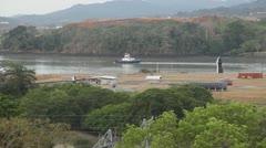 Tug Boat Panama Stock Footage
