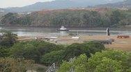 Stock Video Footage of Tug Boat Panama