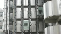 Stock Video Footage of Time Lapse Elevators at Lloyds Building