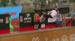 BMX Action at X Games Asia 2011 Stock Footage
