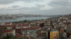 Golden horn Skyline at the istanbul HD 1080p Stock Footage