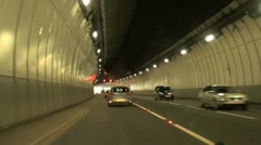 Driving in a Tunnel Stock Footage