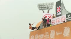 Stock Video Footage of Roller Action at X Games Asia 2011
