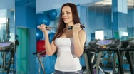 Weight Training At The Gym Stock Footage
