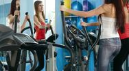 Exercise At The Gym Stock Footage