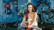 Stock Video Footage of Young Woman  At The Gym
