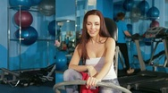Young Woman  At The Gym Stock Footage