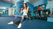 Young Women Exercising At The Gym Stock Footage
