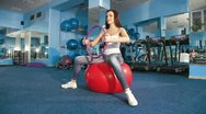 Exercising At The Gym Stock Footage