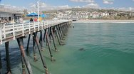 Stock Video Footage of San Clemente Pier