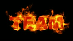 Team text,fire business key words. Stock Footage