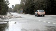 Road, SUV Stock Footage