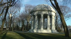 WWI Memorial, Wash. Monument through trees Stock Footage