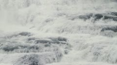 Dawson Falls pan 03 Stock Footage