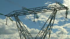 Electricity transmission tower Stock Footage