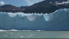 Perito Moreno glacier in Patagonia Stock Footage
