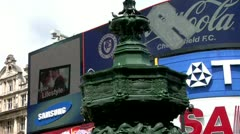 Eros, Piccadilly Circus, London - stock footage