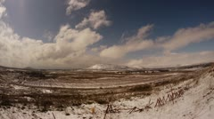Golan FE TL snow  0212 1 Stock Footage