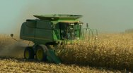 Stock Video Footage of Corn harvesting-hill-2