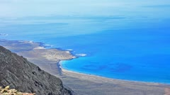 the bay of lanzarote - stock footage