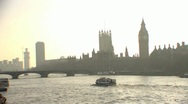 Stock Video Footage of Boat on River Thames HD