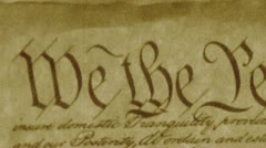 We The People, U.S. Constitution Stock Footage
