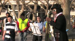 Street Musician - South Bank, London, HD Stock Footage