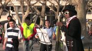 Stock Video Footage of Street Musician - South Bank, London, HD