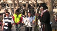 Street Musician - South Bank, London, HD Stock Footage