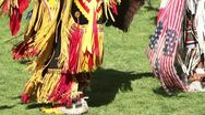 Pow Wow Dancing Feet Stock Footage