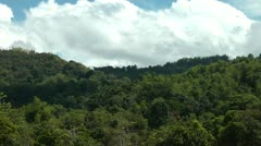 Jungle covered mountains on Panay island in the Philippines Stock Footage
