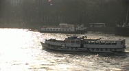 Stock Video Footage of Boat on River Thames 3 HD